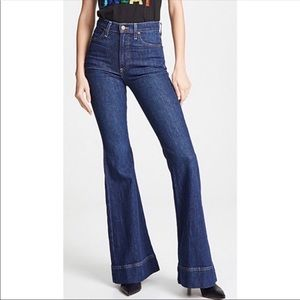 Alice & Olivia Kayleigh Bell Wide Leg Flare Jeans